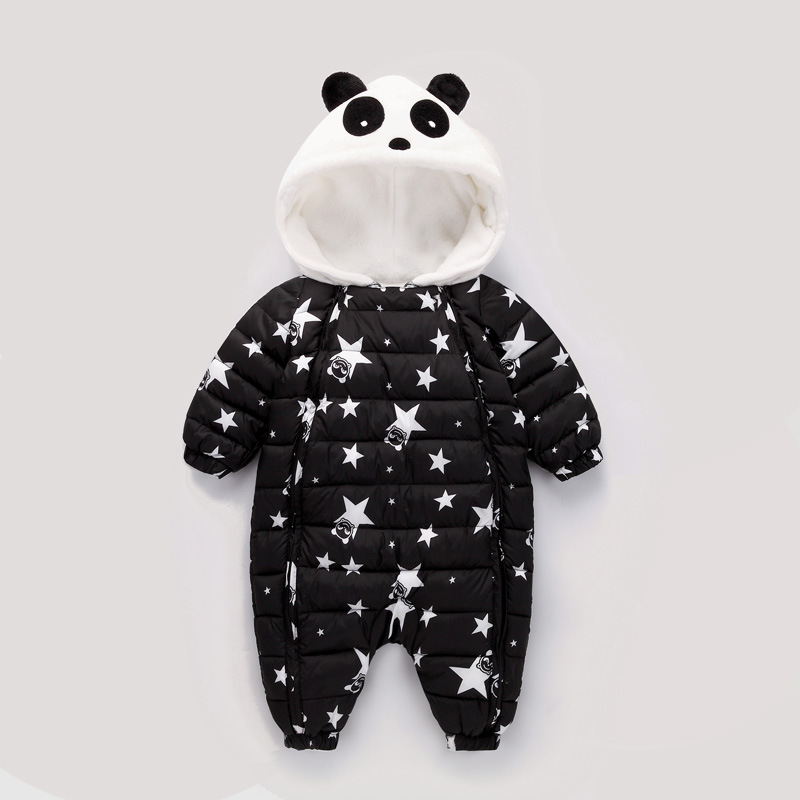 Newborn Baby Girl Rompers Panda Costomes Baby Boy  Infant Romper Kid Jumpsuit Hooded Infant Clothes Outfit Winter Baby Clothing<br>