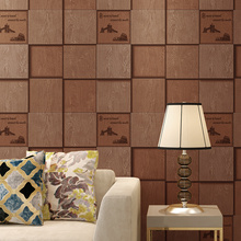 Modern Waterproof PVC Brick Stone Tile Wallpaper For Walls 3 D Living Room Grey Tapety Stereoscopic Background Wallpapers Roll