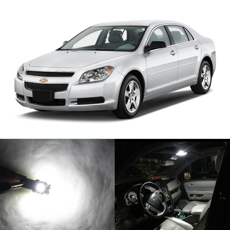 9Pcs Canbus LED Interior Kit Car Light For 2008-2012 Chevrolet Malibu White Lamp