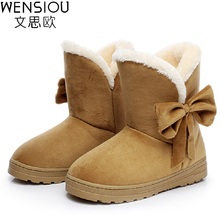 New Style Women Winter Shoes Soft Comfortable Cotton Snow Boots Hot High Quality Female Footwear Ankle Boots Ladies SAT905(China)