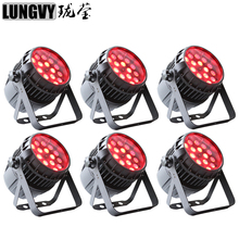 Free Shipping 6pcs/lot Waterproof 18x12W RGBW 4in1 IP65 Outdoor Led Par Can Zoom Led Par Light For Party Dj Disco Stage