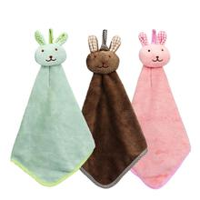 New Qualified Dropship Kitchen Cartoon Animal Hanging Cloth Soft Plush Dishcloths Hand Towel Bathroom Products OC16