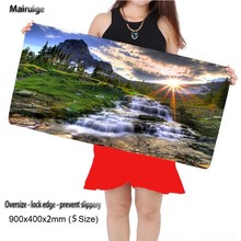 Beautiful Natural Scenery Large Game Mouse Pad 900*400 High Quality with Edge Locking Speed Version Game Keyboard Pad for Gamer