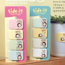 Special offer 3040 lovely girl girl Korean instant convenience stickers creative N cookies 3 pcs/set Memo Pad mixed color