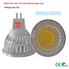 1pcs Super deal MR16 COB 9W 12W 15W LED Bulb Lamp MR16 12V ,Warm White/Pure/Cold White led LIGHTING(China)