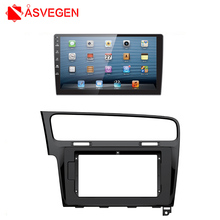 Asvegen Car Radio Fascia Panel Plate Frame Dash Stereo Install Car Radio Panel Mounting Frame For 2013 Volkswagen Gole 7(China)