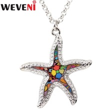 WEVENI Original Statement Metal Starfish Necklace Pendants Choker Chain Collar Ocean Animal Jewelry For Women Girl Accessories(China)