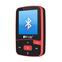 New Arrival Original RUIZU X50 Sport Bluetooth MP3 Player 8gb Clip Mini with Screen Support FM,Recording,E-Book,Clock,Pedometer