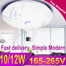 1pcs Modern Led Ceiling Light Home Flush Mount Ceiling Lamp Fixture Lustre Living Room Bathroom Bedroom Kitchen 10W 12W 220V(China)