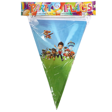 1PCS 2.5M Wholesale PAW Patrol Theme Flags Party decorations Baby Happy Birthday wedding event party supplies for kids