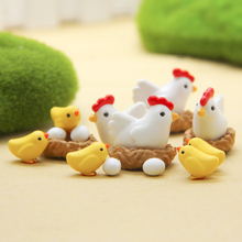 10 Pcs/lot Funny Kawaii Lovely Henhouse HenEgg Chick Family DIY Decoration Action Figures Toys Children Adult Models Gift(China)