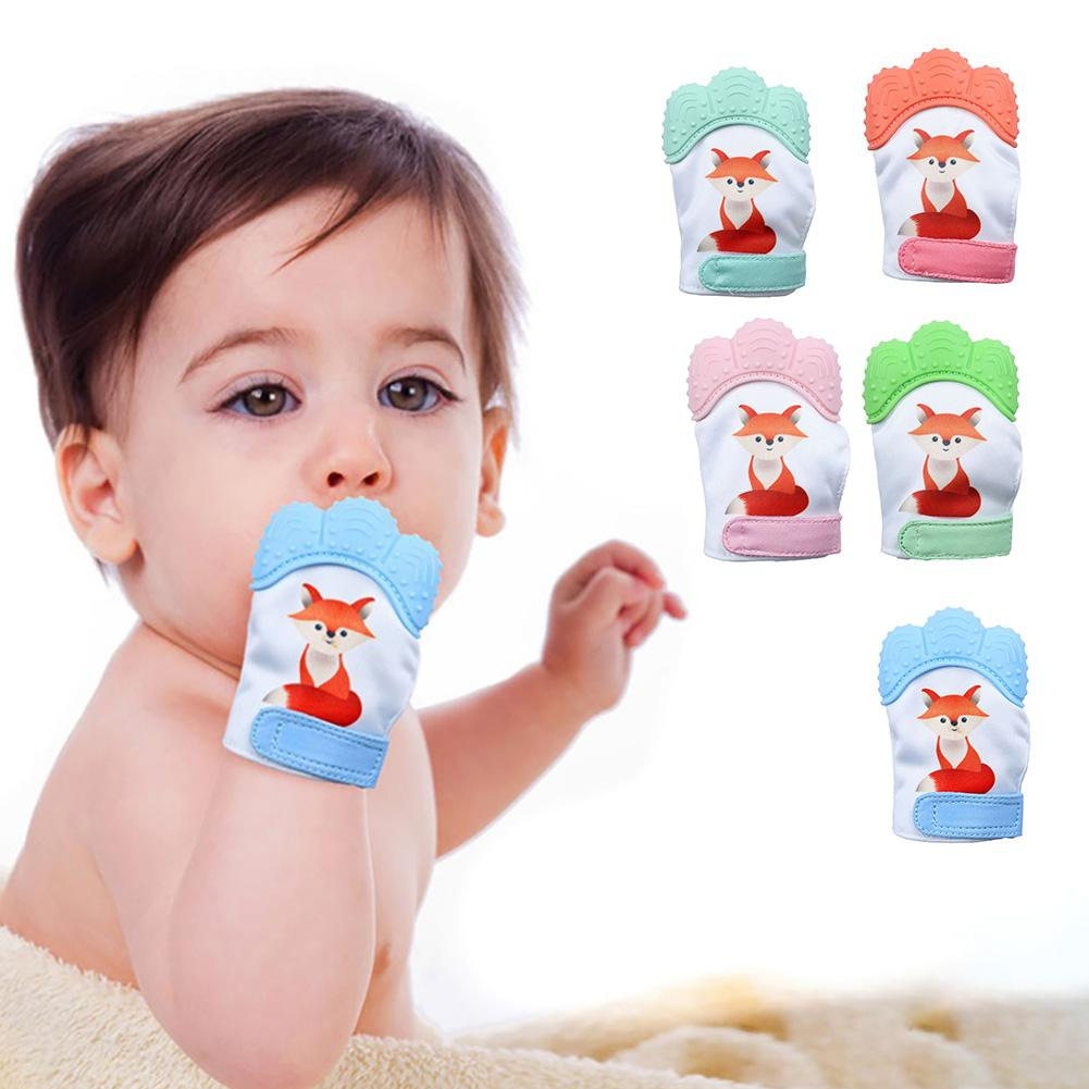 Baby Silicone Teether Teething Toy Cartoon Child Soft Ring Chewable DIY Nursing