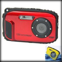 by dhl or ems 50pcs LCD Auto 16MP Underwater Shockproof Digital Camera 10m Waterproof Camera 8X Zoom
