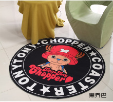 Cartoon Dog Round Mat 60/80/100/120/160CM alfombras dormitorio Carpet Living Room Deurmat rugs Swivel chair Mats tapis chambre