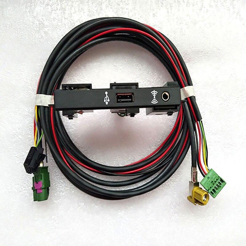 CarPlay Mirror Link MIB Carplay USB AUX-IN Socket Harness for Tiguan L MK2 5Q0 035 726 E<br>