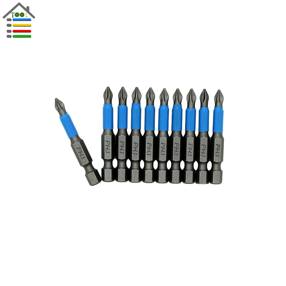 High Quality 10pc Hex Magnetic Anti Slip Phillips PH1 Electric Screwdriver Bit Set Length 50mm Power Tool<br><br>Aliexpress
