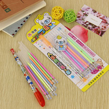1 Pen and 8 Refill/set Color Gel Pen Watercolor Chalk Creative Stationery Colorful Pens Office Learning Supplies
