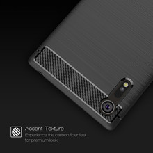 Luxury Carbon Fiber TPU For Sony Xperia XZ Case Soft Silicone Armor Cover For Sony XZ Premium Sony XZs Case Protective Shell