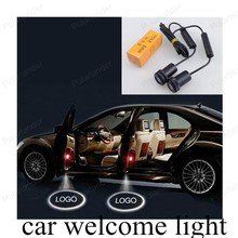 2PCS/lot Led Auto Logo Emblem Laser Lamp LED Car Welcome Light Door Step Ghost Shadow Projector Lamp For GMC free shipping