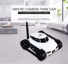 WiFi Mini RC Camera Tank Car ISpy with Video 0.3MP Camera 777-270 Remote Control Robot with 4CH Suppots By Iphone Android App(China)