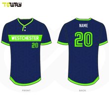 Custom made breathable baseball jersey for team players