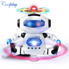 Coolplay CP99444-2 Smart Space Dance Robot Electronic Walking Toys With Music Light Gift For Kids Astronaut Toy to Child(China)
