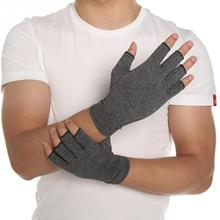 New 1 Pair Women Men Cotton Elastic Hand Arthritis Joint Pain Relief Gloves Therapy Open Fingers Compression Gloves(China)