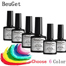 8 ml Nail Polish ( color gel 6 bottle )120Color Gel Lacquer UV Lamp or LED lamp Nail Varnish(China)