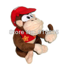 "Free Shipping EMS 20/Lot New Super Mario Diddy Kong Plush Doll Soft Toy 12"" Wholesale"