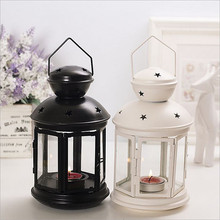 Modern Style Metal Moroccan Lantern Candle Holder Hanging Home Garden Lamp Tealight HOT Gift Festival Decoration WA299 P40(China)