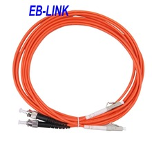 20Meters LC/PC-ST/PC,3.0mm Diameter,OM1 Multimode 62.5/125,Duplex,LC to ST Optical Fiber Patch Cord Cable(China)