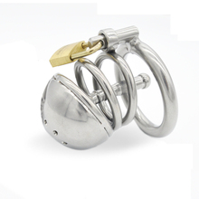 Buy Stainless Steel Small Male Chastity Cage Catheter Metal Cock Cage Chastity Lock Penis Ring Plug Horse Eye Sex Toy G124