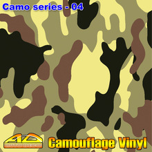 30m/roll Wholesale Camo Sticker Camouflage Vinyl Wrap Sheet Car Color Change Foil With Air Bubble Free FedEx Free Shipping(China)