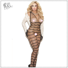 Buy Sexy Lingerie Hot Erotic Fishnet Bodystocking Bodysuits Costumes Women Open Crotch Catsuit Teddy Babydolls Underwear QQ065