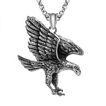 New Arrival domineering Eagle Pendant necklace Antique charms jewelry the eagle wings Eagle 361L Titanium steel Necklace Pendant