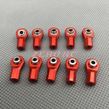 10PCS  Red M3 Metal Tie Rod End Ball Joint Head Holder For RC4WD D90 D110 Axial SCX10 RC Crawler Truck