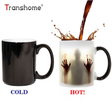 Transhome Walking Dead Mug 300ml Color Changing Heat Sensitive Ceramic Coffee Mug Surprise Gifts Magic Tea Cup Mugs Bloody Hands(China)