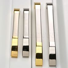 New Simple Smooth Bright Silver/Gold Handles Knobs Kitchen Cabinet Drawer Wardrobe Door Shoe Cabinet Solid Handle Pull