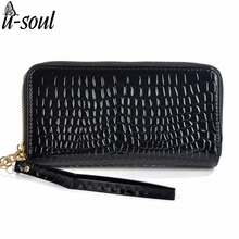 2 Zippers Brand Long Design Casual Female Purses Fashion Women Wallets Good Quality Patent Leather Wallets Ladies Purses sc0065K