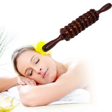 Multifunctional Wooden Abdominal Massage Roller Handheld Manual Wheel Massage Stick Release Pain Health Care Tool(China)