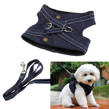 Practical Dog Harness Canvas Pet Vest Leash Walking Puppy Dog Traction Rope 3 Sizes S M L For Dog Supplies