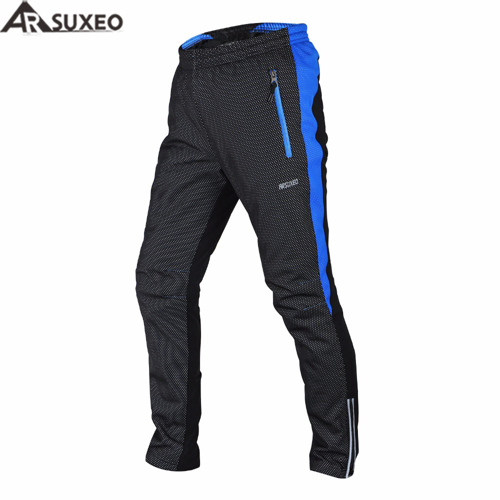 ARSUXEO 2017 Winter Warm Up Thermal Fleece Cycling Pants MTB Bike Bicycle Pant Windproof 14AA  <br>