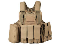 Tactical Molle CIRAS Vest Airsoft Paintball Combat Duty Vest W/Mag Pouch Utility Bag Releasable Armor Plate Carrier Strike Vests(China)