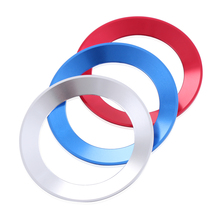 Car Styling Steering Wheel Logo Emblems Ring Decoration Sticker For Volkswagen VW Passat b7 b8 Bora POLO GOLF 6 7 Jetta MK6 RS(China)