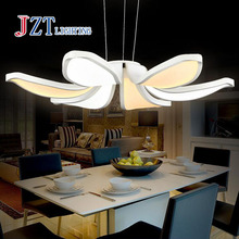 Z BEST PRICE modern Simple fashion led Acrylic Flower Pendant Coffee leisure lamp for bedroom living room restaurant study(China)