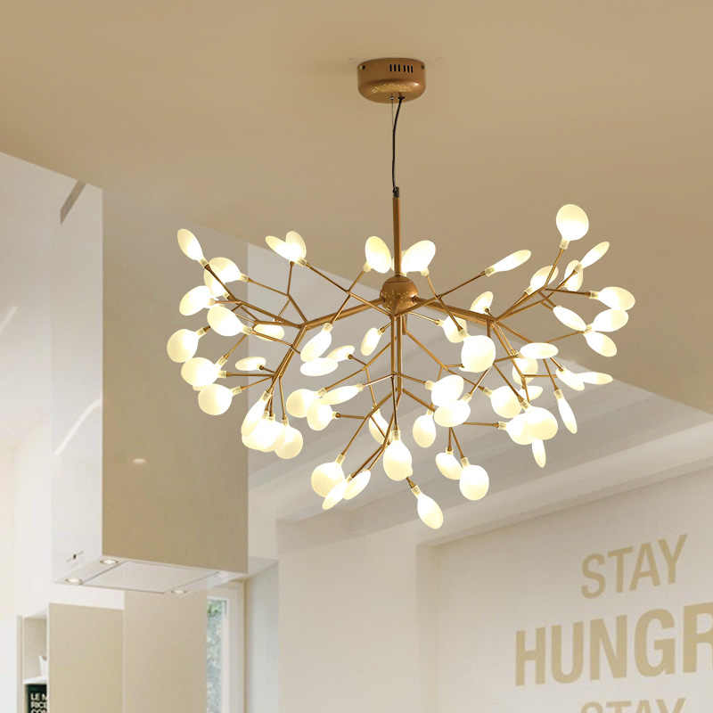 Modern Led Chandelier Living Room Suspended Lighting Loft Home