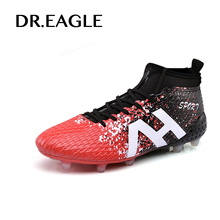 DR.EAGLE futzalki crampon football spike soccer cleat superfly original football boots ankle high sock for AG/FG 39-44(China)
