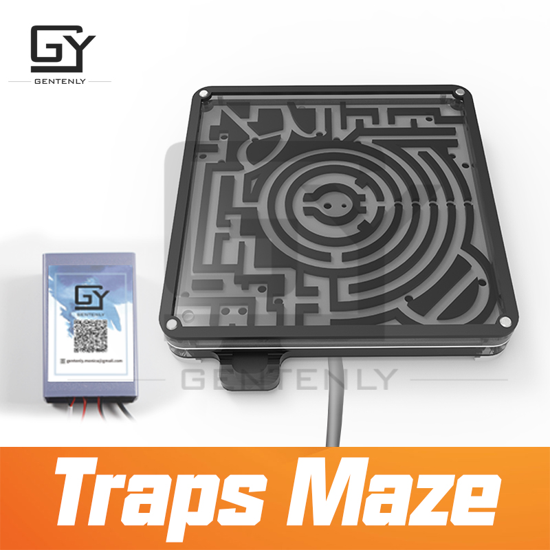 Escape Room Prop Traps Maze Avoid The Traps And Transport The Iron Ball To The Goal To Open Magnet Lock Room Escape Game Prop Year-End Bargain Sale Security & Protection Alarm System Kits