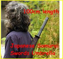 50pcs/lot  Factory price+ Japanese Samurai Swords Umbrella Katana Umbrellas  Umbrellas length 100cm
