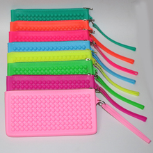 DIANJIE New Design Fashion Women Silicone Wallet Coin Purse Women Handbags 7 Color Make Up Bags Free Shipping(China)